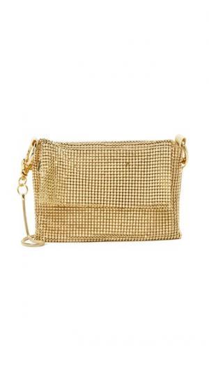 Металлизированная сумочка через плечо Whiting & Davis