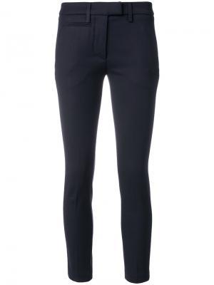 Укороченные брюки Twill Perfect Dondup. Цвет: синий