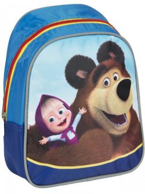 Рюкзачок малый Маша и Медведь мишка. Цвет: синий, коричневый, красный