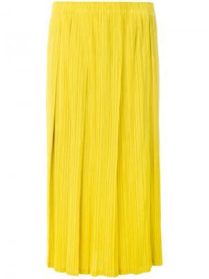 Плиссированная юбка-миди Pleats Please By Issey Miyake. Цвет: жёлтый и оранжевый