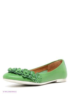 Балетки Francesco Donni. Цвет: зеленый