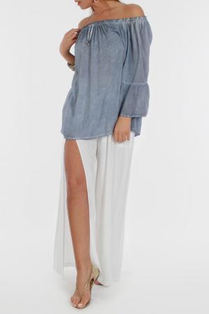 Блуза Zer otantik. Цвет: синий