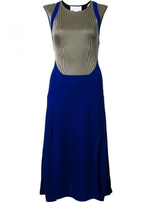 Платье Varsity Esteban Cortazar. Цвет: синий