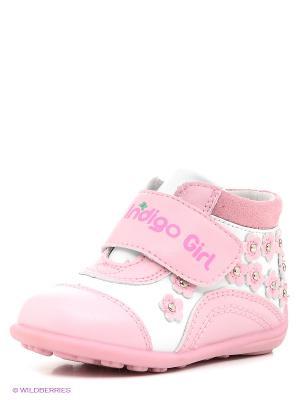 Ботинки Indigo kids. Цвет: бледно-розовый