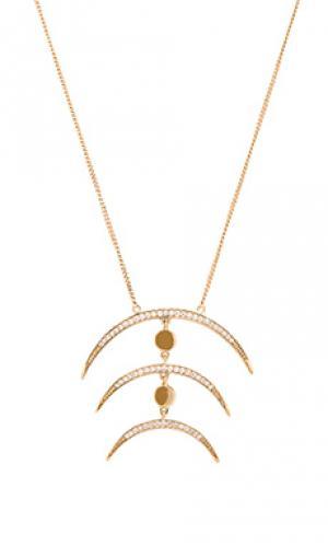 Ожерелье Melanie Auld. Цвет: металлический золотой