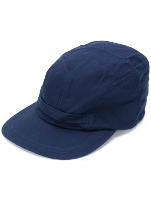 Классическая бейсболка Engineered Garments. Цвет: синий