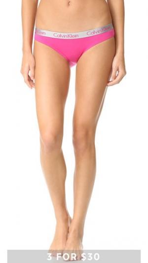 Трусики-бикини Radiant из хлопка Calvin Klein Underwear. Цвет: ярко-розовый