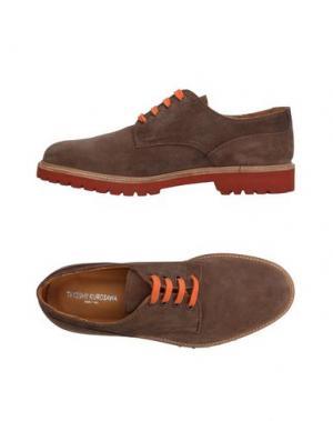 Обувь на шнурках TAKESHY KUROSAWA. Цвет: хаки
