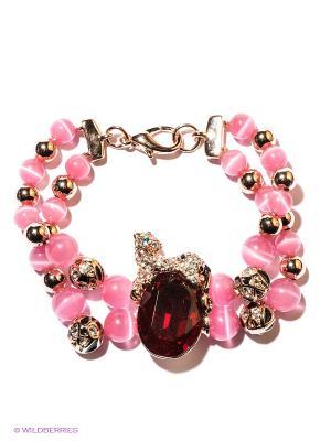 Браслет Bijoux Land. Цвет: розовый, красный