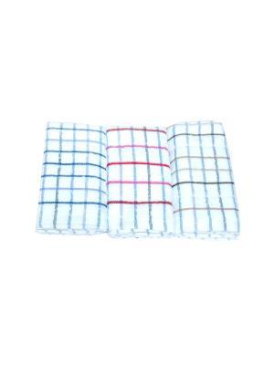 Набор полотенец Клетка 3 предмета La Pastel. Цвет: белый, синий, коричневый, розовый