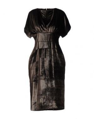 Платье до колена MAURIZIO PECORARO. Цвет: темно-коричневый