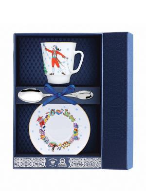 Набор чайный Майская - Балет Щелкунчик 3 предмета + футляр АргентА. Цвет: серебристый