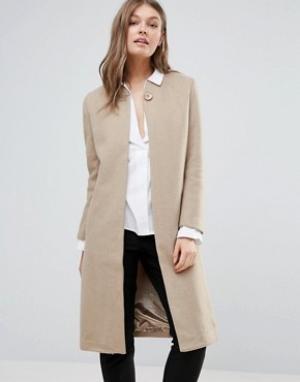 Goldie Длинное пальто. Цвет: бежевый