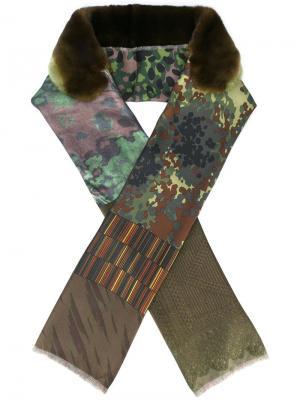 Камуфляжный шарф Pierre-Louis Mascia. Цвет: зелёный
