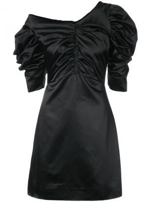 Платье на одно плечо Isa Arfen. Цвет: чёрный