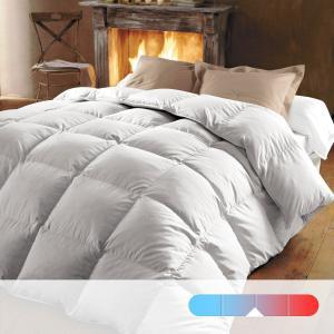 Одеяло натуральное, 320 г/м², 70% пуха, обработка против клещей и пятен BEST. Цвет: белый