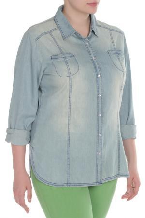 Рубашка Krizia. Цвет: голубой, джинса