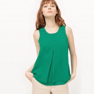 Блузка легкая без рукавов SUD EXPRESS. Цвет: зеленый