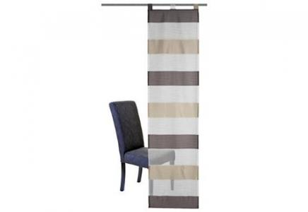 Японская штора, Home Wohnideen, «Sarnia-Streifen» (комплект из 1 шт.) WOHNIDEEN. Цвет: цвет серого камня