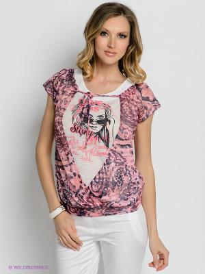 Блузка Gemko. Цвет: розовый, кремовый