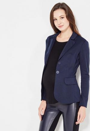 Пиджак MammySize. Цвет: синий