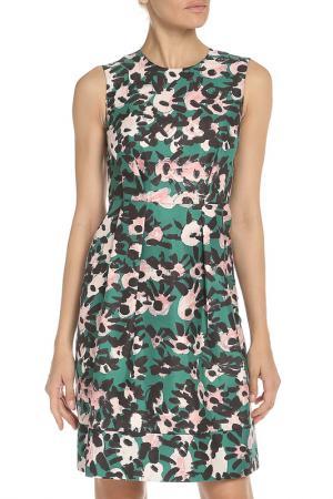 Платье Marni. Цвет: brv70 зеленый,черный,розовый