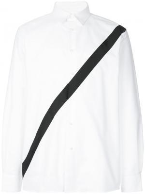 Рубашка с контрастной полосой Public School. Цвет: белый
