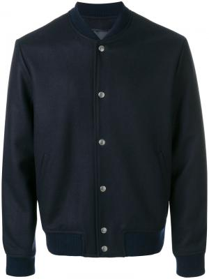 Классическая куртка-бомбер Harmony Paris. Цвет: синий