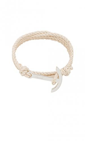 Веревочный браслет с якорем modern Miansai. Цвет: ivory