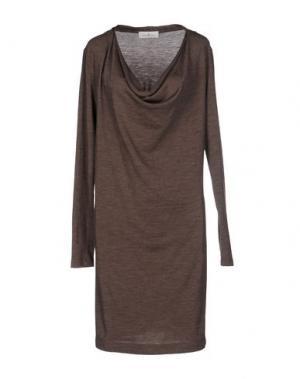 Короткое платье DELLA CIANA. Цвет: темно-коричневый