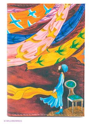 Обложка для автодокументов Платки и птицы Mitya Veselkov. Цвет: желтый, синий, розовый