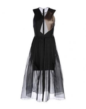 Платье длиной 3/4 BARBARA CASASOLA. Цвет: черный