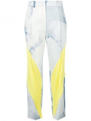 Классические брюки с контрастным дизайном Esteban Cortazar. Цвет: синий
