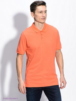 Футболка-поло Calvin Klein. Цвет: оранжевый