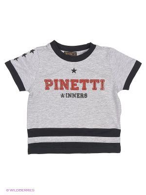 Футболка Pinetti. Цвет: серый
