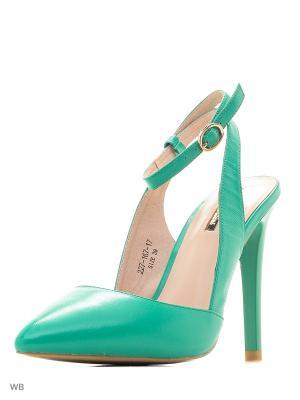 Туфли Dino Ricci. Цвет: зеленый