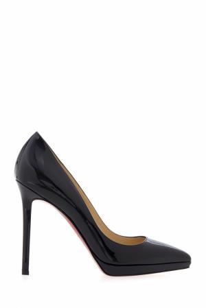 Туфли из лакированной кожи Pigalle Plato 120 Christian Louboutin. Цвет: черный