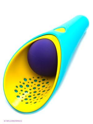 Набор совочков и мячик Quut. Цвет: голубой, красный, желтый