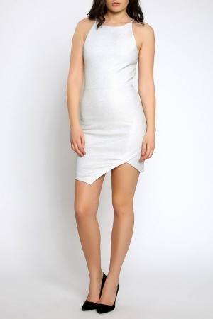 Платье Moda di Chiara. Цвет: серебряный