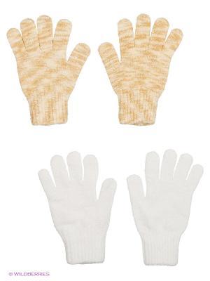 Перчатки - 2 пары FOMAS. Цвет: бежевый, белый