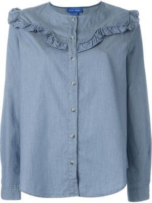 Рубашка Niki Mih Jeans. Цвет: синий