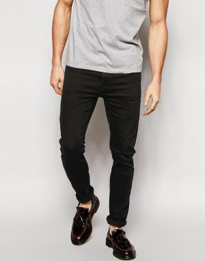 Cheap Monday Черные облегающие джинсы. Цвет: черный