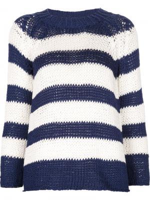 Полосатый свитер Spencer Vladimir. Цвет: синий