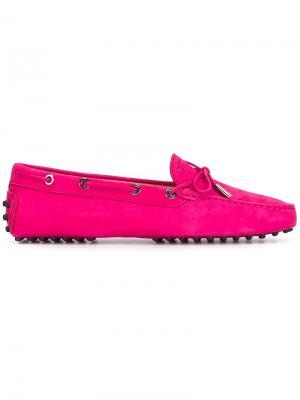 Мокасины Gommino Tods Tod's. Цвет: розовый и фиолетовый