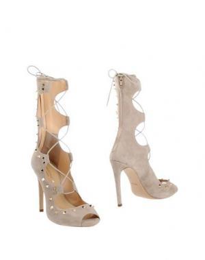 Полусапоги и высокие ботинки SPAZIOMODA. Цвет: бежевый
