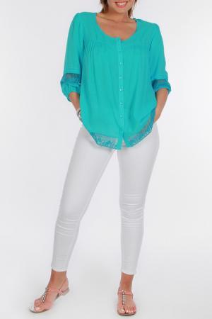 Блуза Zer otantik. Цвет: голубой