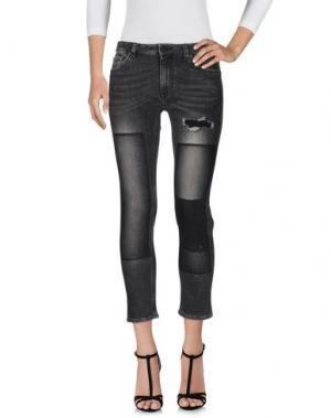 Джинсовые брюки PENCE. Цвет: стальной серый