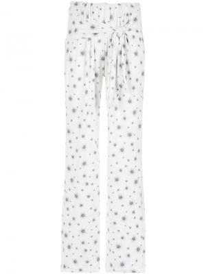 Printed trousers Olympiah. Цвет: белый