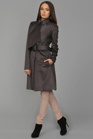 Пальто с поясом Victoria Beckham. Цвет: серый