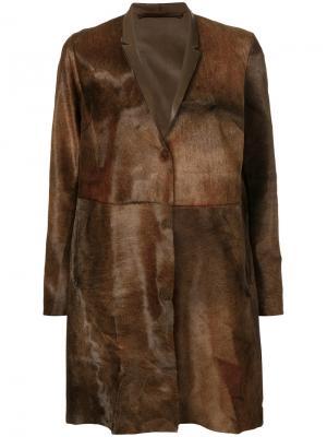 Concealed button coat Salvatore Santoro. Цвет: коричневый